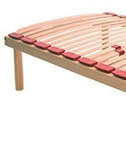 Fixed slatted bed base